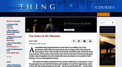 thecatholicthing.org - the catholic thing - catholic commentarythe catholic thing  catholic commentary