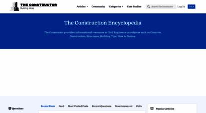 theconstructor.org - the constructor - the construction encyclopedia