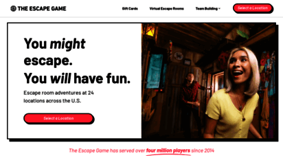 theescapegame.com - america´s 1 escape room  the escape game  60-minute adventures
