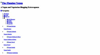 theflamingvegan.com - the flaming vegan: a vegan and vegetarian blogging extravaganza
