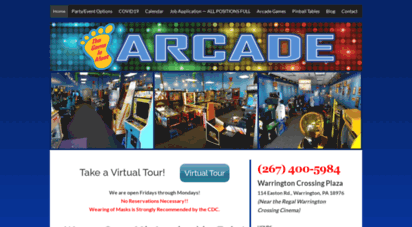 thegameisafootarcade.com - arcade games & machines - warrington, pa - birthday parties - video arcades - retro style video game and pinball arcade