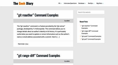 thegeekdiary.com - the geek diary - concepts  basics  howto