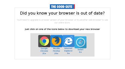thegoodguys.com.au - the good guys - online electrical & home appliances