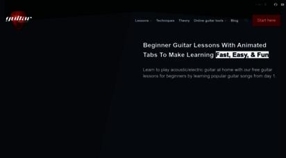 theguitarlesson.com - beginner guitar lessons - theguitarlesson.com