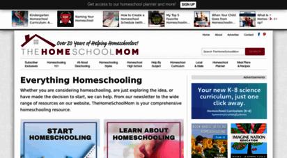 thehomeschoolmom.com - everything homeschooling: getting started, faq, curriculum, & more