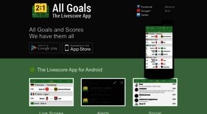 thelivescoreapp.com - soccer livescores » the free & fast scoring app!