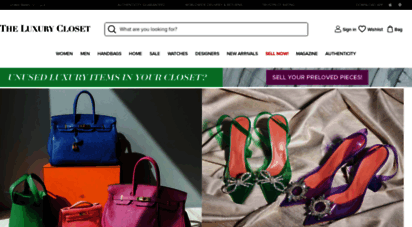 theluxurycloset.com - the luxury closet  buy & sell designer bags,shoes,clothes and jewellery