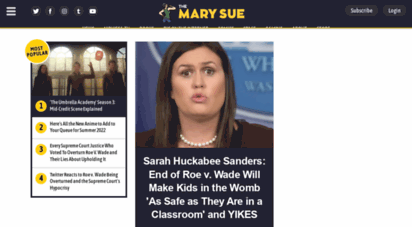 themarysue.com - the mary sue - the nexus of pop culture and the uncharted universe