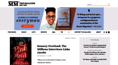 themillions.com - the millions - books, arts, and culture
