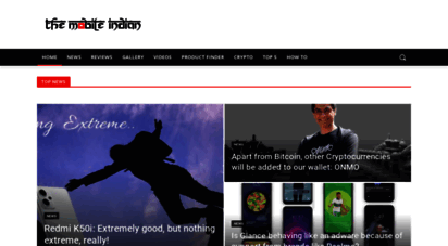 themobileindian.com - latest tech news, best mobile phones, smartphone reviews, gadget news, laptops, apps, slideshow and video of gadgets - the mobile indian