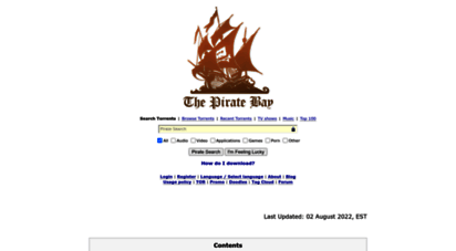 thepirate-bay.org - download music, movies, games, software! the pirate bay - the galaxy´s most resilient bittorrent site