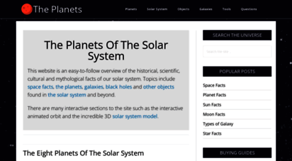 theplanets.org - the planets: interesting facts about the eight planets