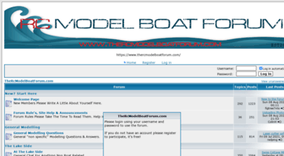 Welcome to Thercmodelboatforum com - The RCMB Forum