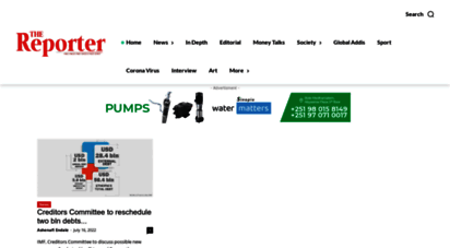 Welcome to Thereporterethiopia com - The Reporter Home   The