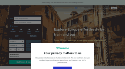 thetrainline.com - trainline — your browser is out-of-date