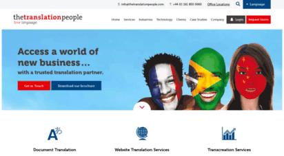 thetranslationpeople.com - translation services  leading translation agency  the translation people