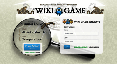 thewikigame.com - the wiki game - ´wikipedia game´ - explore and race through wikipedia!