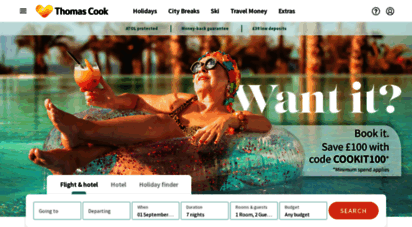 thomascook.com - thomas cook  package holidays, city breaks and hotels