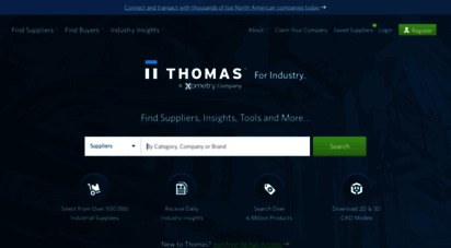thomasnet.com - thomasnet® - product sourcing and supplier discovery platform - find north american manufacturers, suppliers and industrial companies