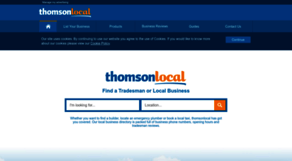 thomsonlocal.com - find local tradesmen and businesses  thomson local business directory