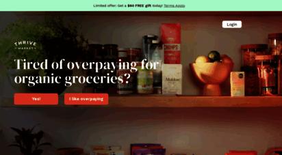 thrivemarket.com - thrive market - healthy living made easy