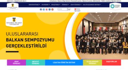 ticaret.edu.tr - istanbul ticaret üniversitesi