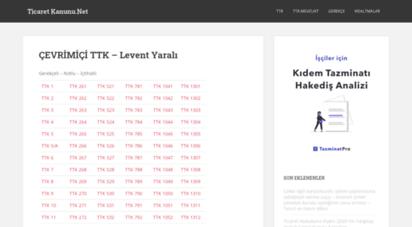 ticaretkanunu.net - çevrimiçi türk ticaret kanunu  levent yarali