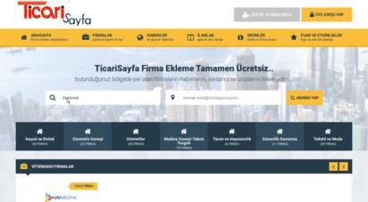 ticarisayfa.com - ticari sayfa firma ekleme-firma ekle-firma rehberi-şirket eklemenin en kolay yolu! - ticari sayfa - yeni firma ekleyin