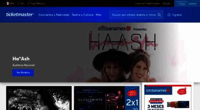ticketmaster.com.mx - boletos para conciertos, deportes, arte, teatro, familiares, eventos, y muchos más. sitio oficial de ticketmaster