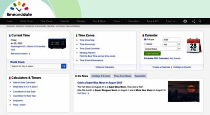 timeanddate.com - timeanddate.com