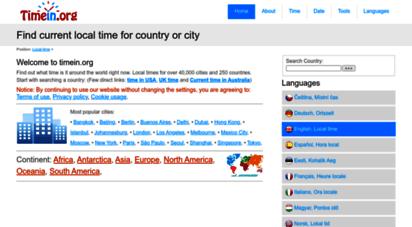 similar web sites like timein.org