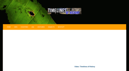 timelines.ws - timelines of history: online directory of historical timelines.