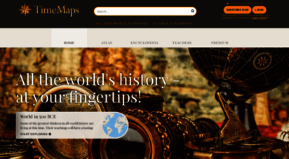 timemaps.com - the timemap of world history: the online atlas and encyclopedia