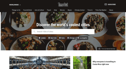 timeout.com - time out  best things to do and events in cities worldwide