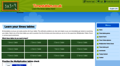 timestables.co.uk - times tables games - learn them all here!