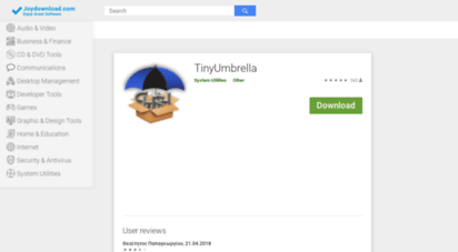 Welcome to Tinyumbrella joydownload com - TinyUmbrella