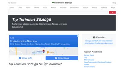 tipterimlerisozlugu.com - tıp terimleri sözlüğü: tıbbi terimlerin türkçe çevirileri