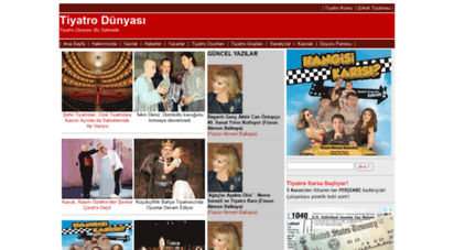 tiyatrodunyasi.com - anasayfa - tiyatro dünyası