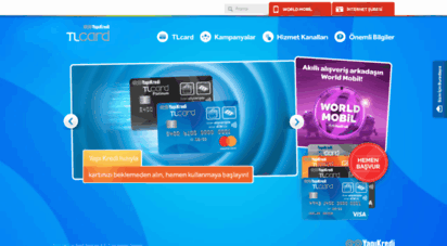 tlcard.com.tr - yapı kredi tlcard