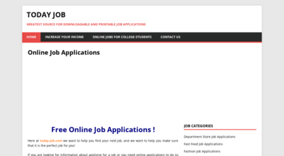 welcome to today job com today job greatest source for