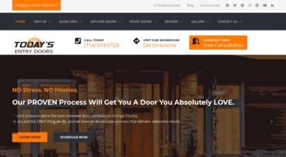todaysentrydoors.com - orange county entry doors company  today´s entry doors