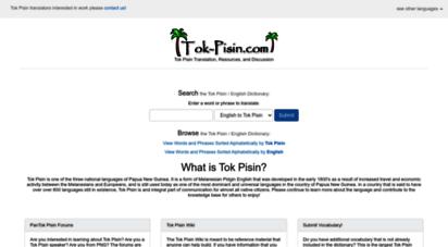 tok-pisin.com - tok pisin translation, resources, and discussion