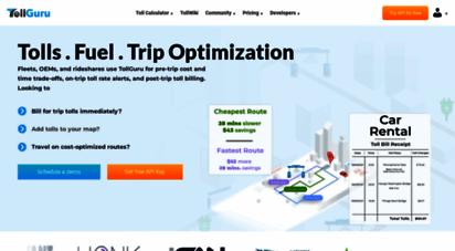 tollguru.com - trip calculator - google maps with tolls & gas - toll api  tollguru