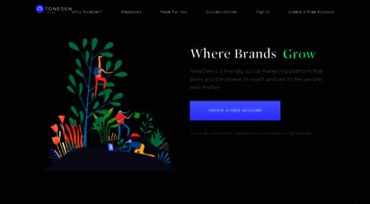 toneden.io - toneden - automated social marketing