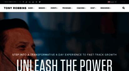 tonyrobbins.com - tony robbins - the official website of tony robbins