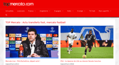 topmercato.com - top mercato : actu transferts foot, mercato football