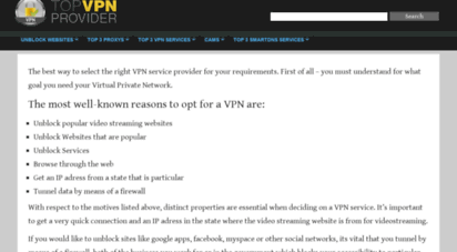 topvpnprovider.net - top vpn provider 2020