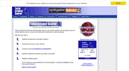 totalcricketscorer.com - total cricket scorer  cricket scoring software  live cricket scores  used at lord´s