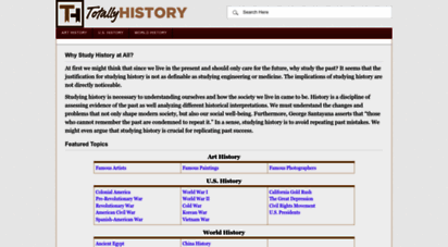 totallyhistory.com - totally history - facts about famous events & records of the past