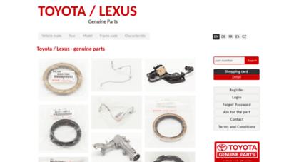 toyota-parts.eu - přehled cen originálních náhradních dílů toyota  toyota parts - originální náhradní díly toyota